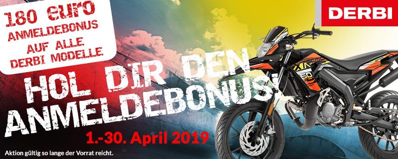 180 Euro Bonus bei DERBI
